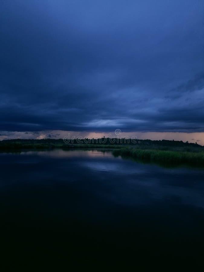 Noite tormentoso fotografia de stock