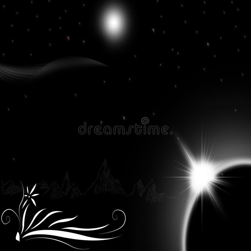 Noite-vista ilustração royalty free