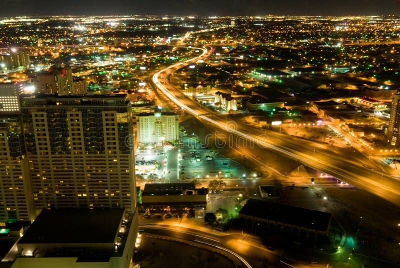 Noites Ariel de San Antonio fotografia de stock royalty free