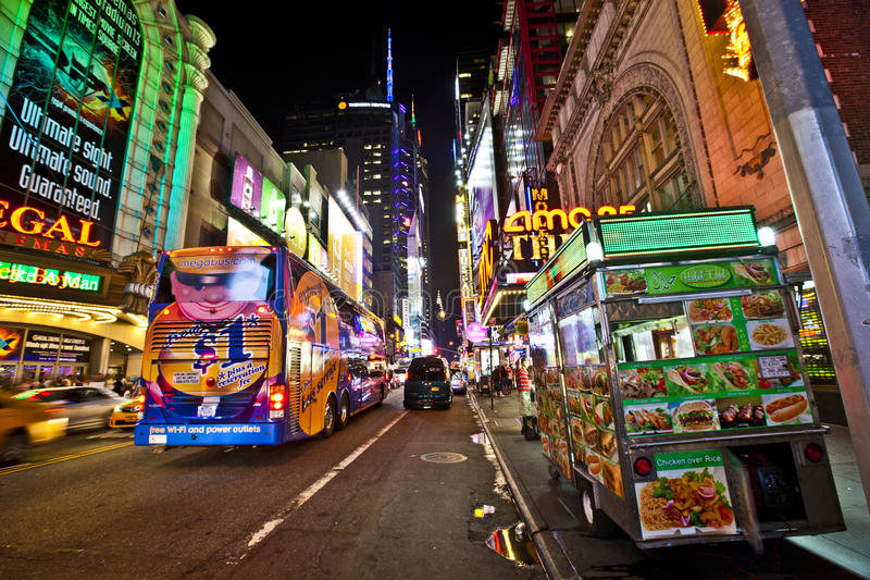 Noites de New York fotos de stock royalty free