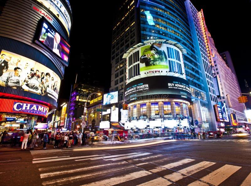 Noites de New York imagens de stock royalty free