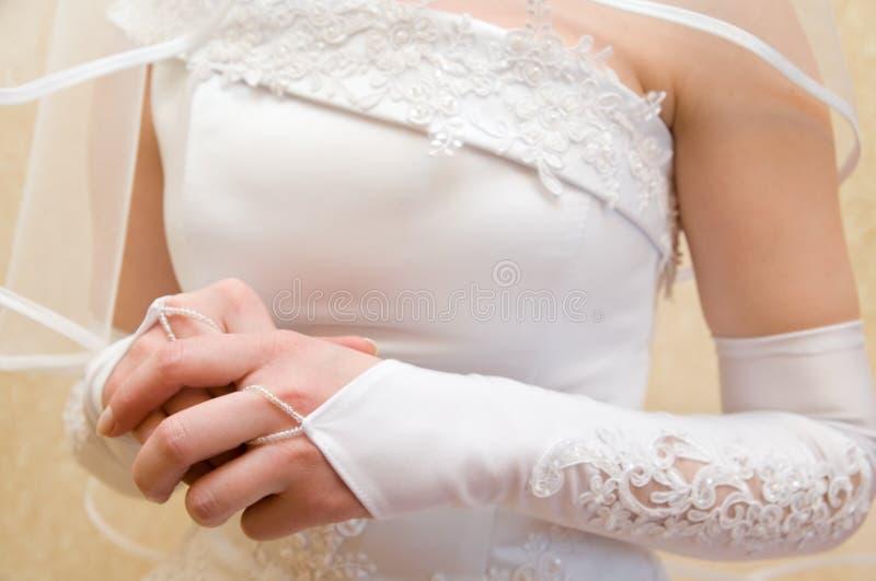 A noiva é nervosa fotografia de stock royalty free