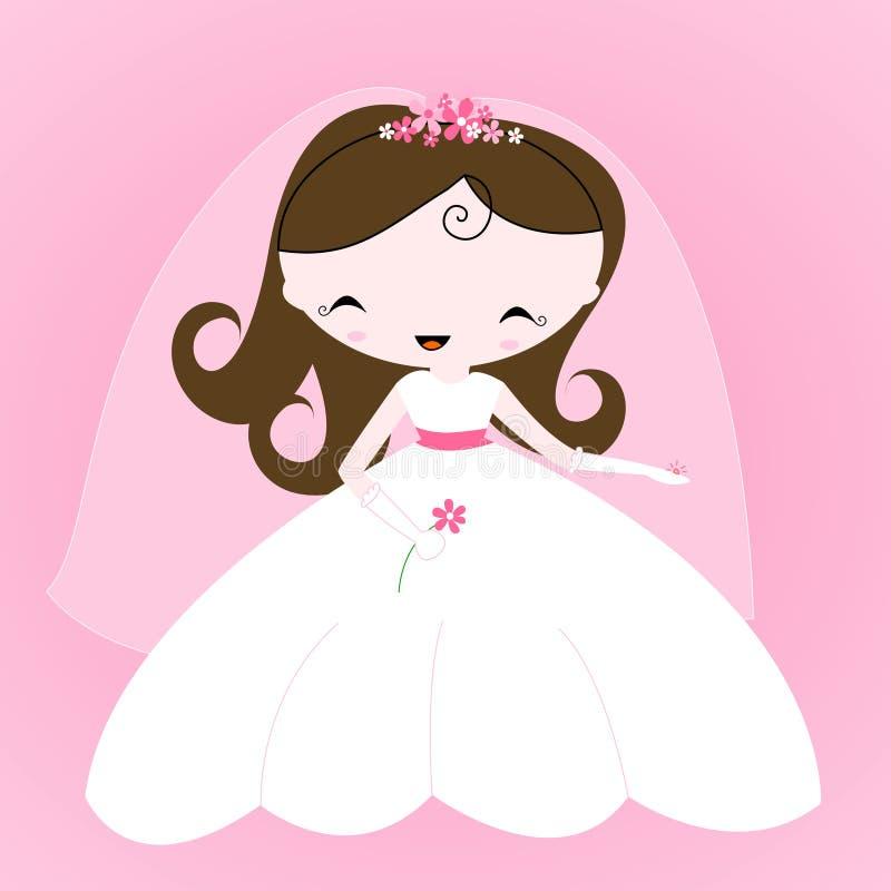Noiva ilustração royalty free