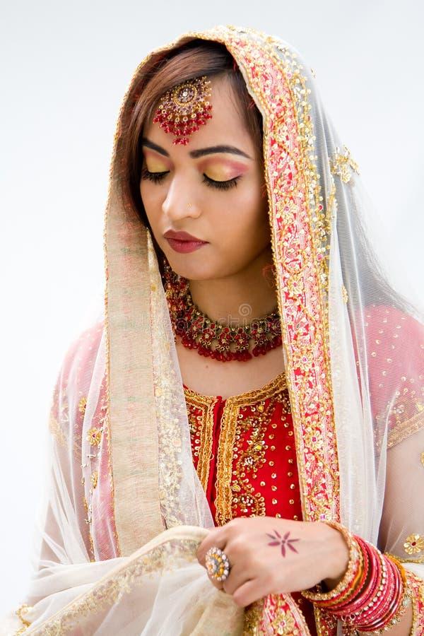 Noiva bengali elegante fotografia de stock