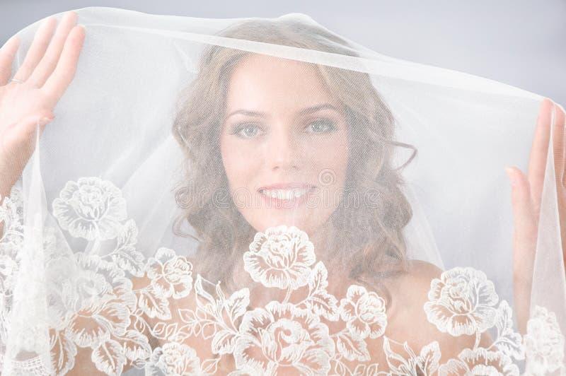 Noiva bonita sob o véu foto de stock royalty free