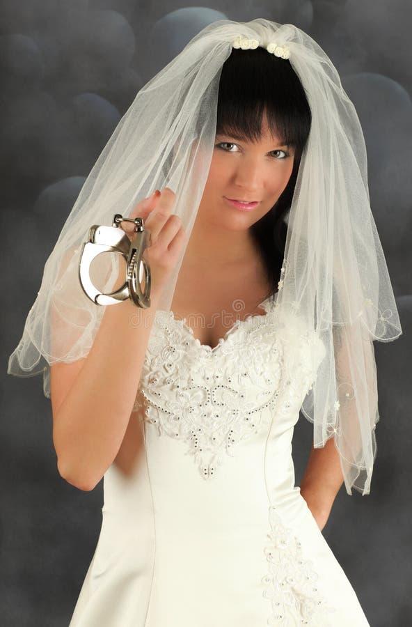 Noiva com algemas imagem de stock royalty free