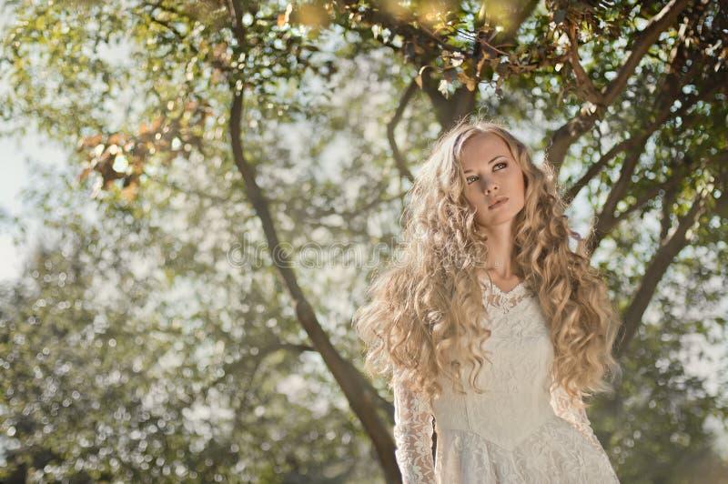 Noiva com cabelo surpreendente imagem de stock