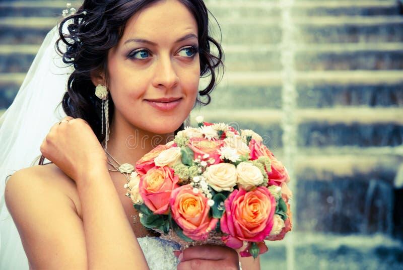 Noiva com ramalhete fotos de stock royalty free