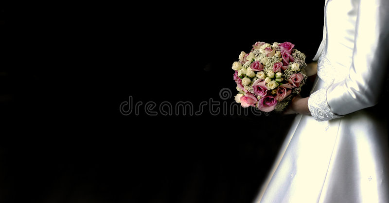 Noiva com ramalhete fotografia de stock