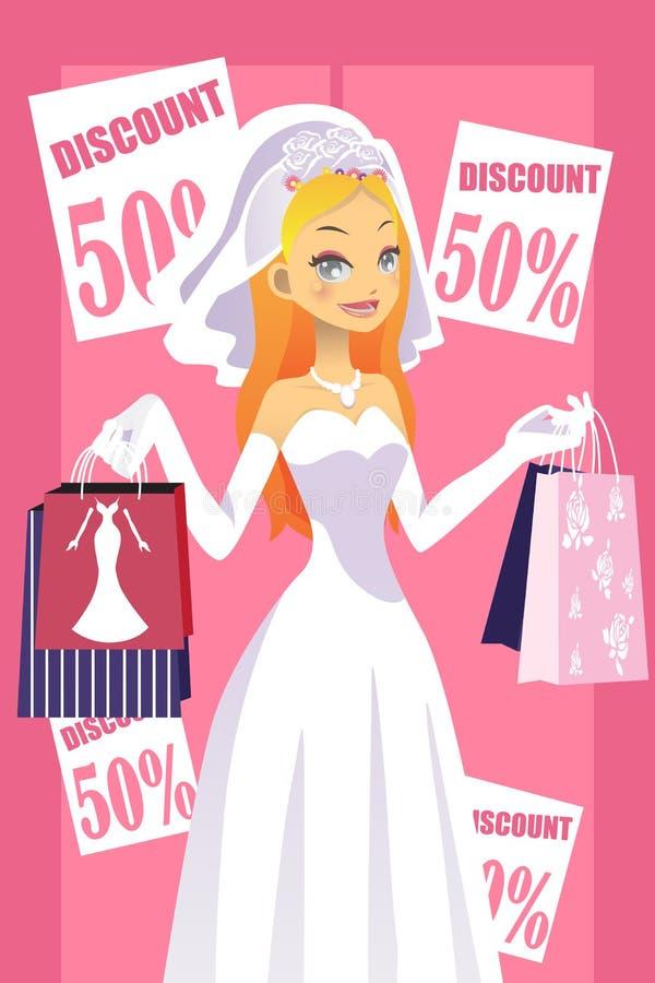 Noiva da compra ilustração stock