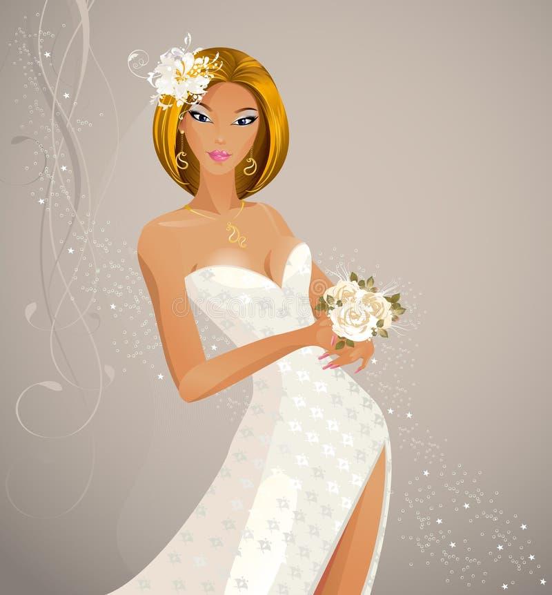 Noiva da forma ilustração royalty free