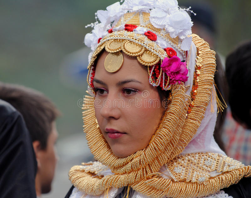 Noiva de Gorani, Kosovo fotos de stock royalty free