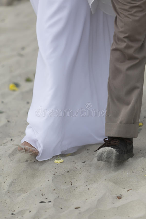 Noiva descalça imagem de stock royalty free