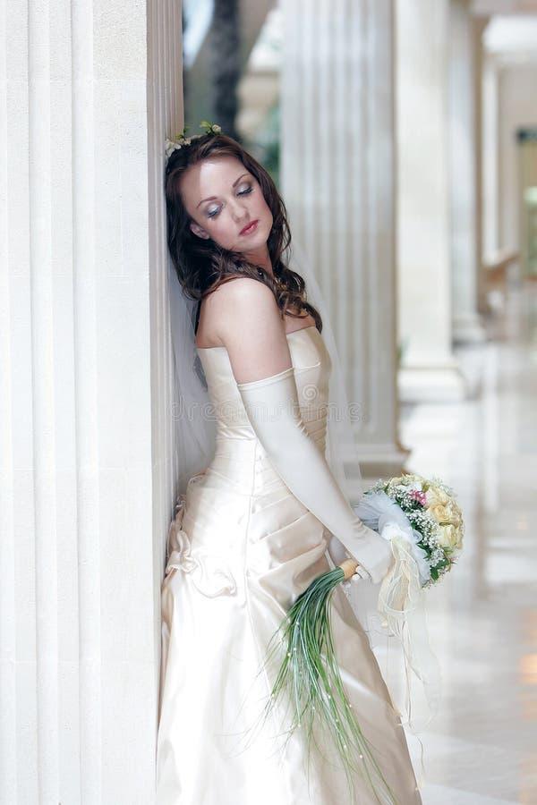 Noiva do dia do casamento imagem de stock