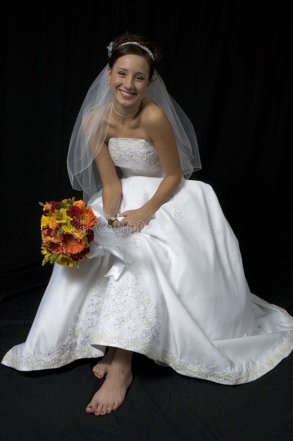 Noiva do pé desencapado foto de stock royalty free