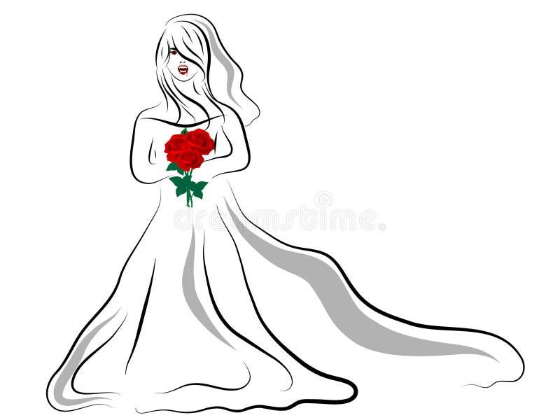 Noiva do vampiro ilustração do vetor