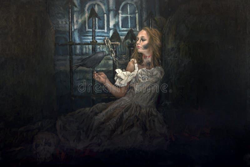 Noiva do zombi fotografia de stock