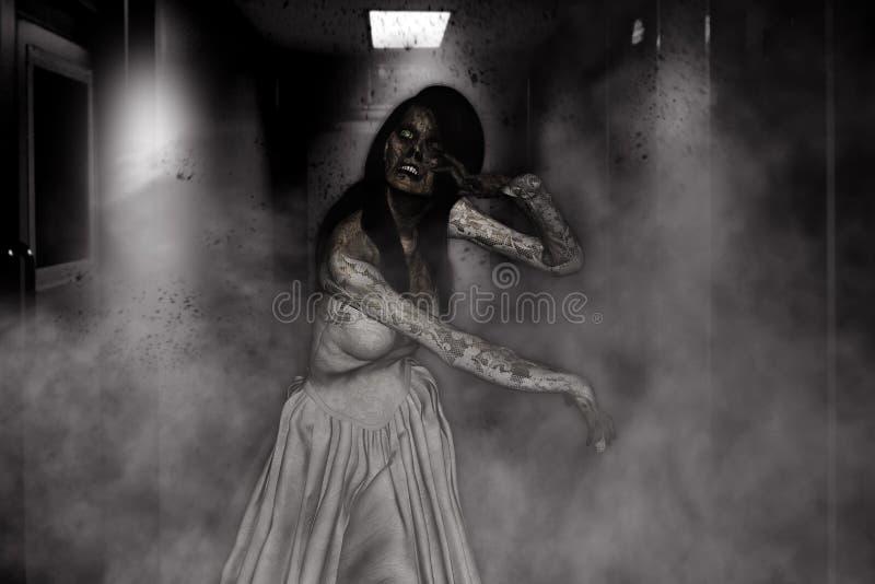 Noiva do zombi ilustração royalty free