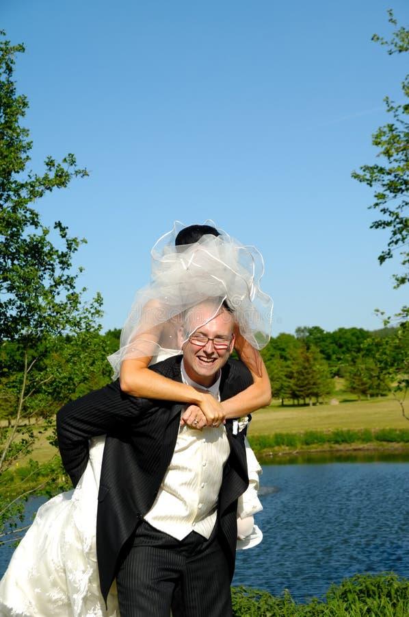 Noiva e noivo imagens de stock