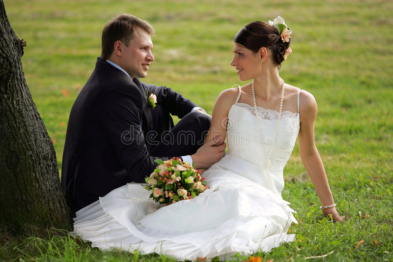 Noiva e noivo no amor foto de stock royalty free