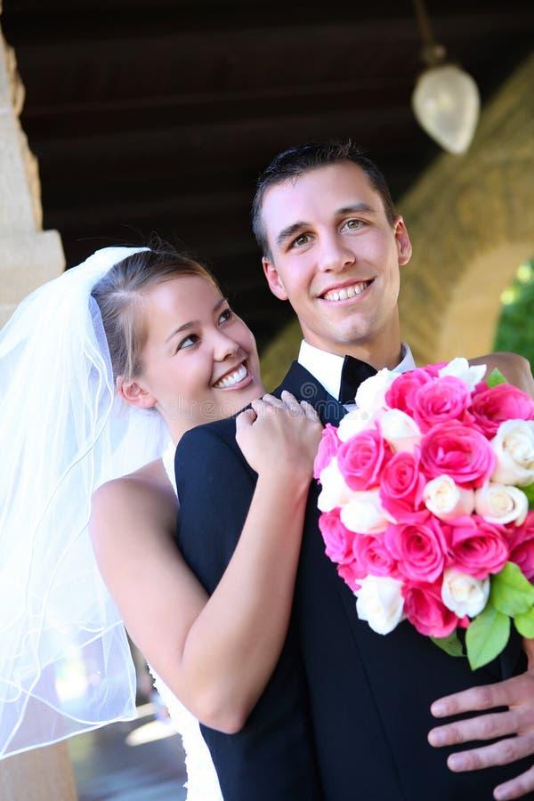 Noiva e noivo no casamento foto de stock royalty free