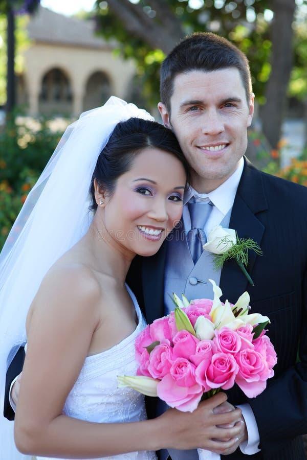 Noiva e noivo no casamento imagem de stock royalty free