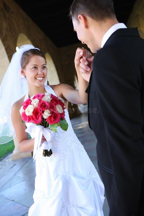 Noiva e noivo no casamento fotos de stock royalty free