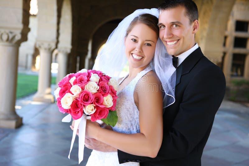Noiva e noivo no casamento