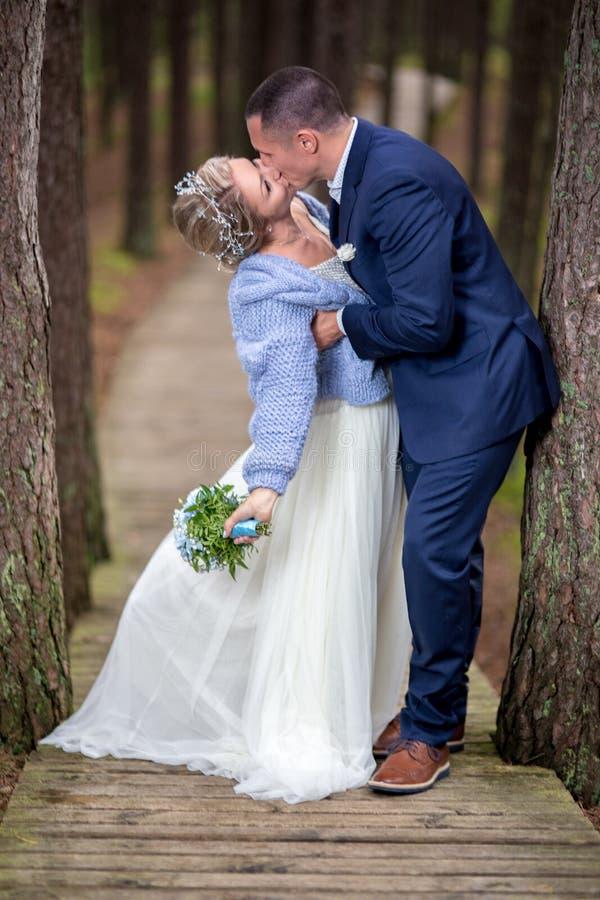 Noiva e noivo no dia do casamento fotos de stock royalty free