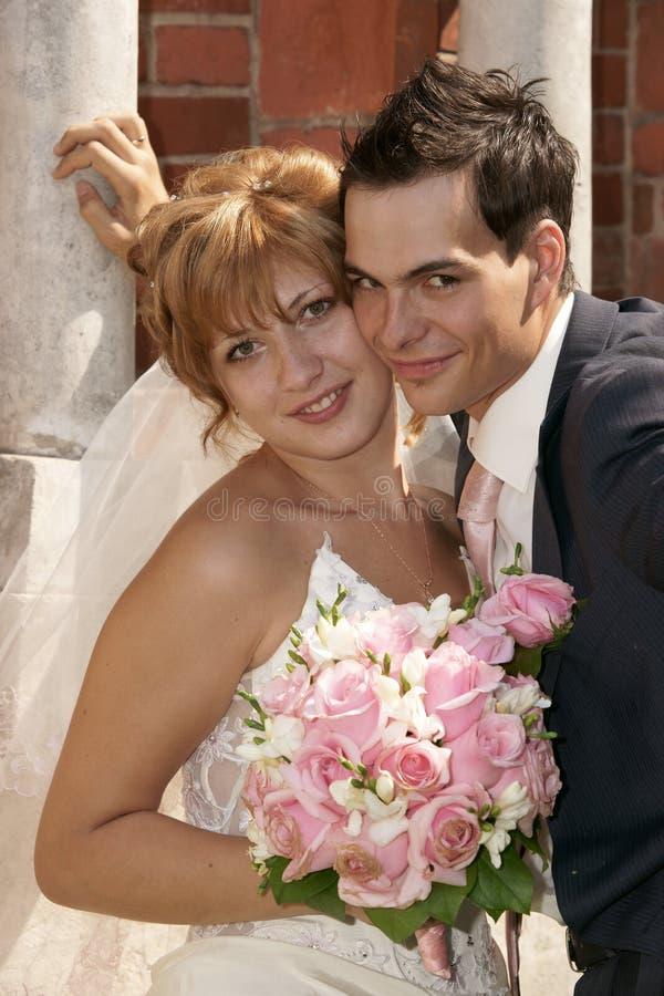Noiva e noivo novos fotos de stock