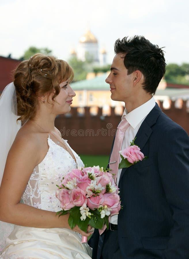 Noiva e noivo novos imagem de stock royalty free