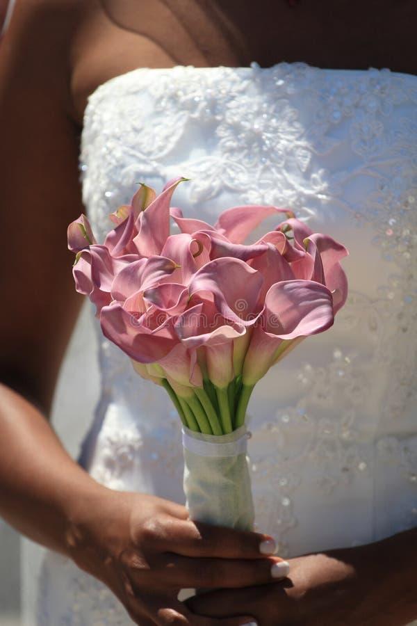 Noiva em seu dia do casamento imagens de stock royalty free