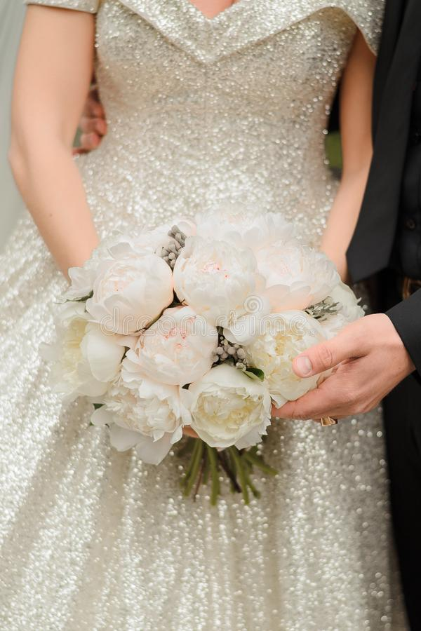 Noiva em uma cerimônia de casamento fotografia de stock royalty free