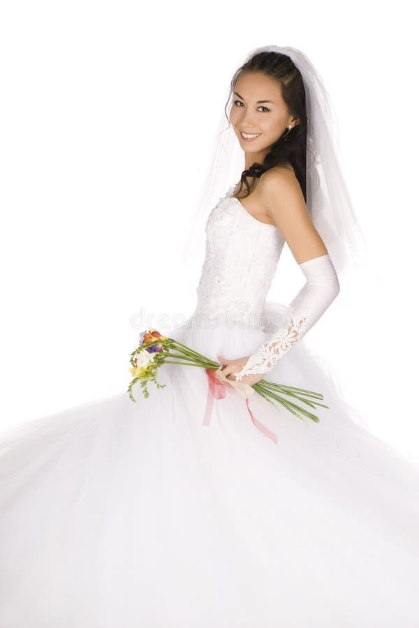 Noiva feliz fotografia de stock royalty free