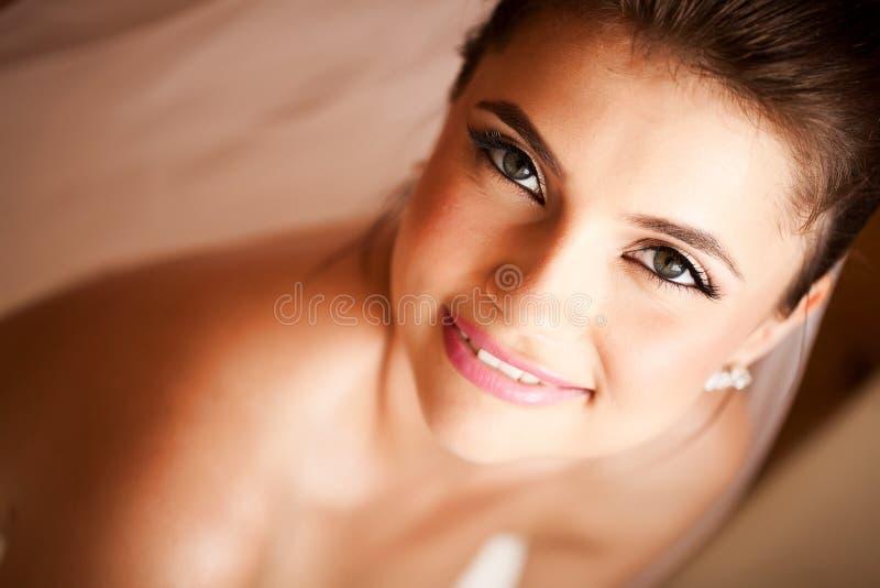 Noiva feliz bonita imagem de stock royalty free