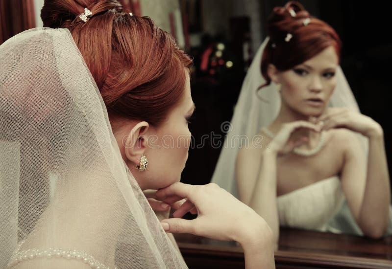 Noiva feliz nova fotografia de stock royalty free