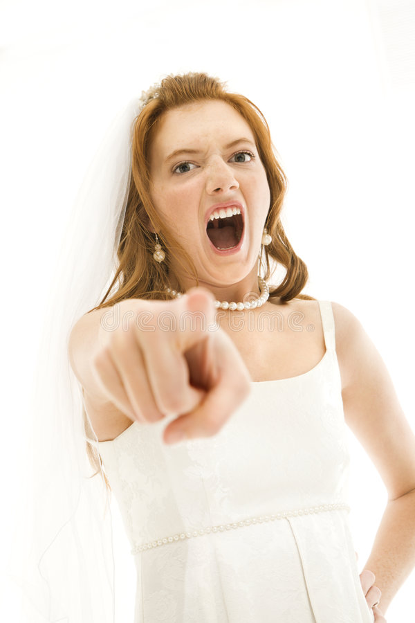 Noiva gritando. imagens de stock royalty free
