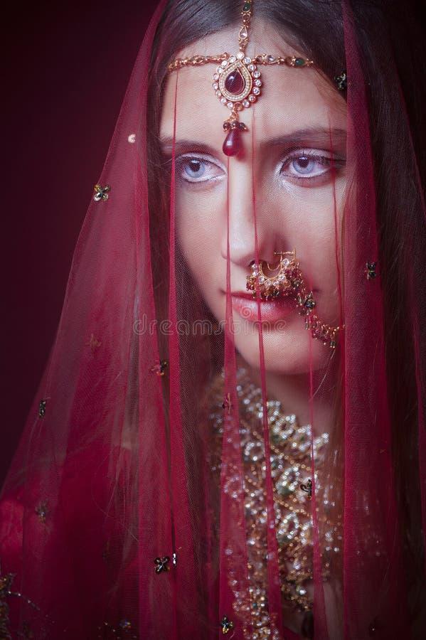 Noiva hindu real fotografia de stock