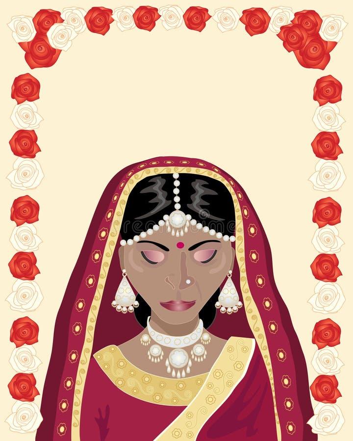 Noiva indiana ilustração stock