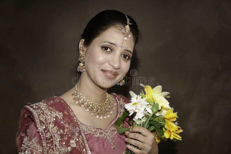 Noiva indiana bonita fotos de stock royalty free