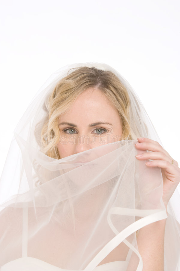 Noiva isolada no branco fotografia de stock royalty free