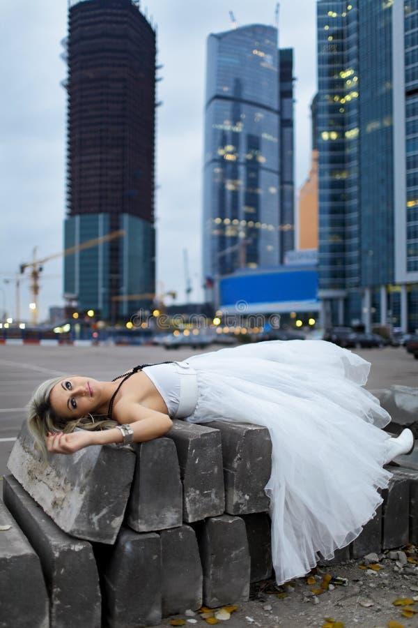 Noiva louca imagem de stock royalty free