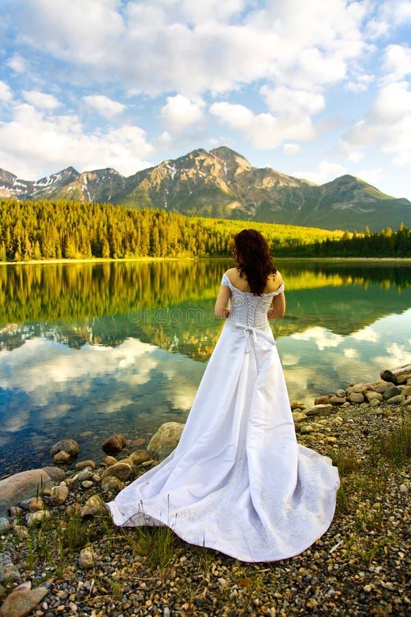 Noiva na água foto de stock royalty free