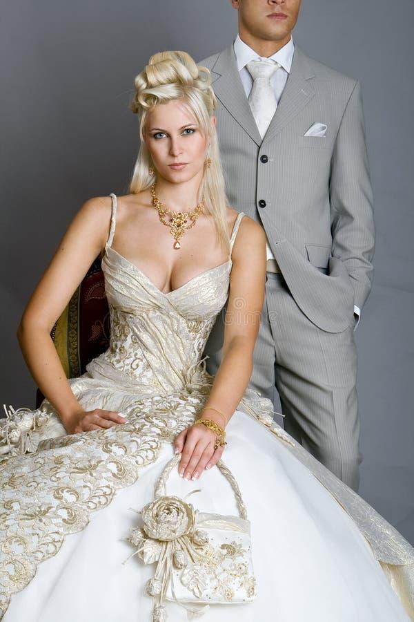 Noiva no vestido fotografia de stock royalty free
