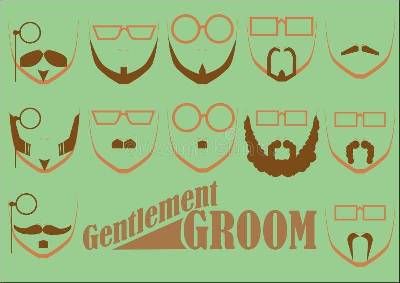 NOIVO dos cavalheiros ilustração stock