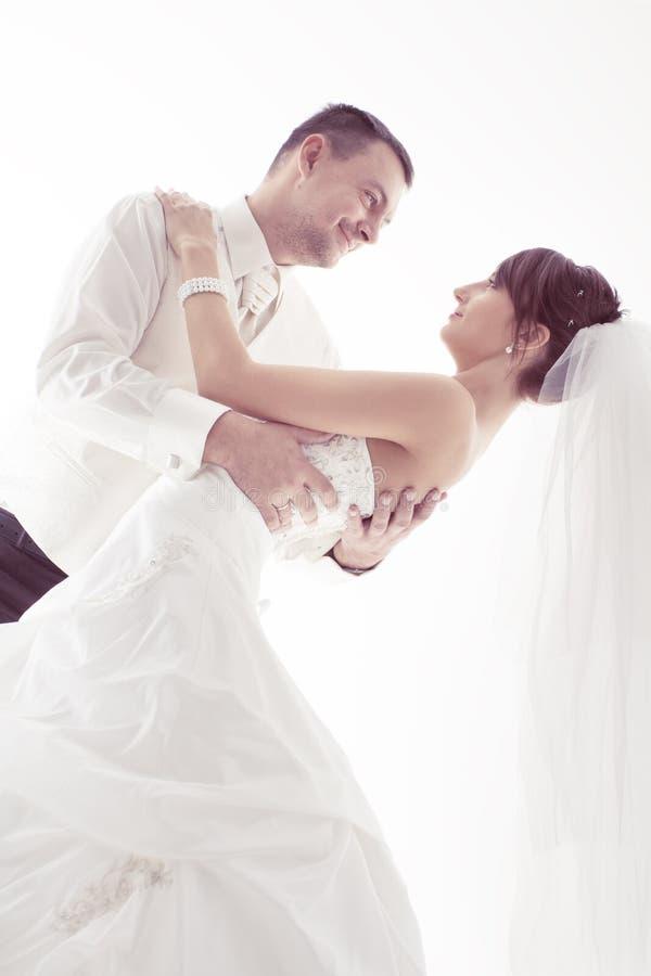 Noivo e noiva fotografia de stock