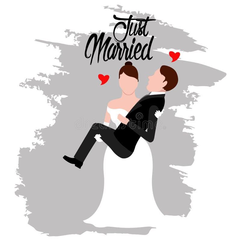 Noivo e noiva Apenas casal ilustração stock