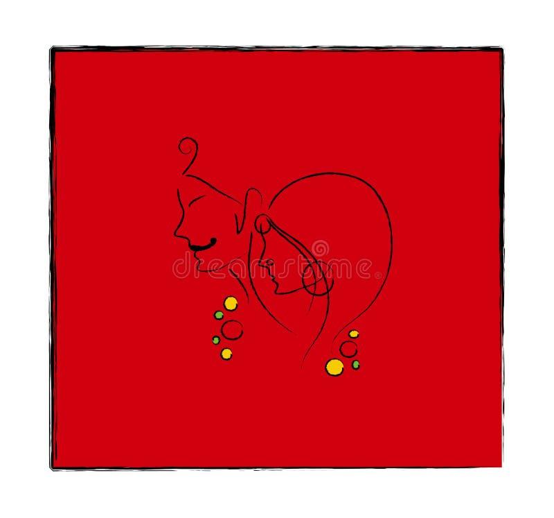 Noivo indiano ilustração royalty free