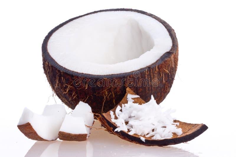 Noix de coco criquée images stock