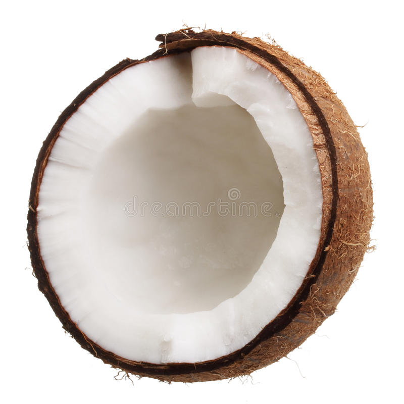 Noix de coco d'isolement photo stock